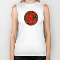 poppies Biker Tanks featuring Poppies by pinopics