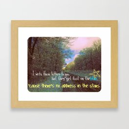 Address In The Stars Framed Art Print