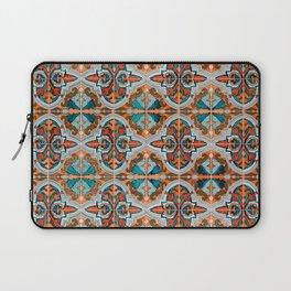 Seamless Floral Pattern Ornamental Tile Design  3 - Red Laptop Sleeve