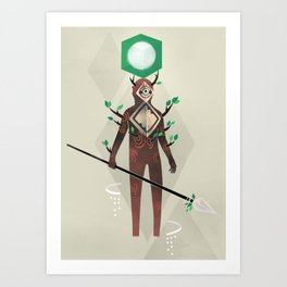 The Forest Guardian Art Print