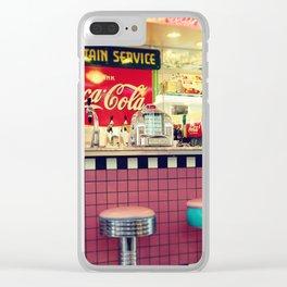retro diner Clear iPhone Case