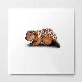Animalphabet B | Beaver Metal Print
