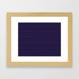 Gothic purple stripes Framed Art Print