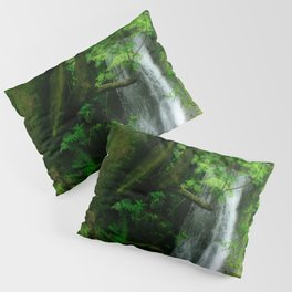 Waterfall in Azores islands Pillow Sham