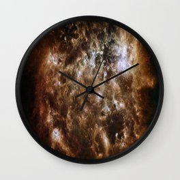 brown white smoke 4/26/2017 Wall Clock