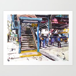 Astoria Boulevard Station, Queens Art Print