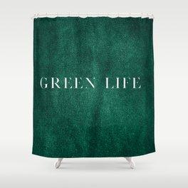 Minimalistic Green Life Shower Curtain