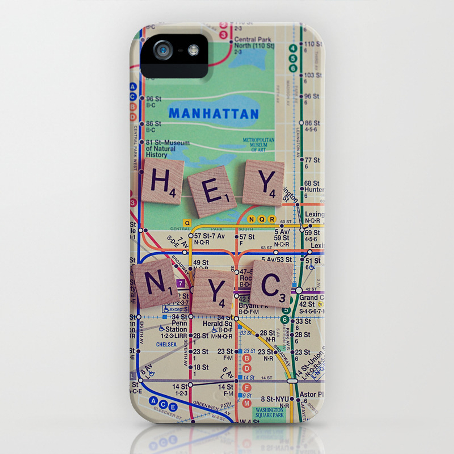 Nyc Subway Map Iphone 5 Case.New York City Nyc Map Subway Travel Iphone Case