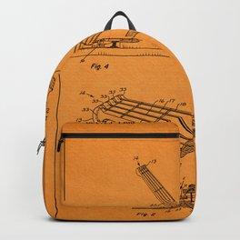 Guitar Patent - light orange Backpack