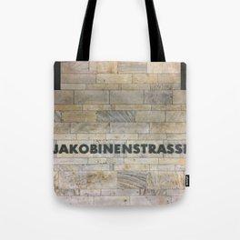 Nuremberg U-Bahn Memories - Jakobinenstrasse Tote Bag