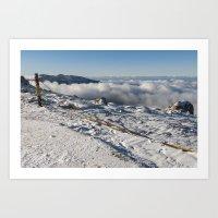 snowy summit Art Print