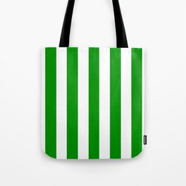Islamic green - solid color - white vertical lines pattern Tote Bag
