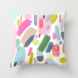 Messy Marks Throw Pillow