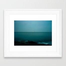 Maine Moon Framed Art Print