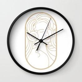 Girl Art Deco 07 Wall Clock