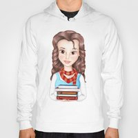 hermione Hoodies featuring Beauty Granger. Belle / Hermione crossover by Missy Corey