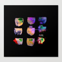 neon Canvas Prints featuring neon by clemm