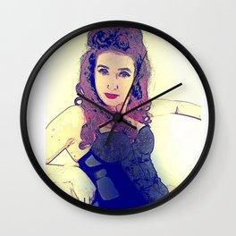 1950's Temptress Pin Up Wall Clock