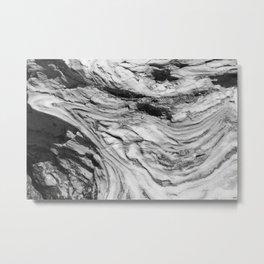 Monolithic Erosion Swirl Metal Print