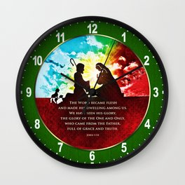 We Have Seen His Glory! Wall Clock