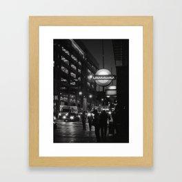 white heat Framed Art Print