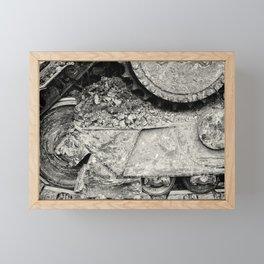 Bulldozer Dirt Fest Framed Mini Art Print