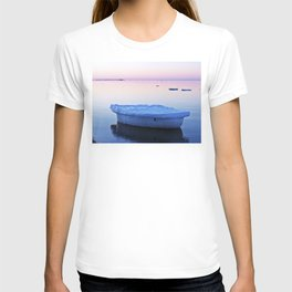 Ice Raft at Dusk on Calm Seas T-shirt