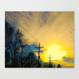Telephone Trees Canvas Print