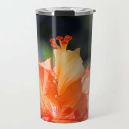 Flamingo Hibiscus Travel Mug