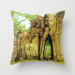 Threshold Guardian - Mythic Fantasy Throw Pillow