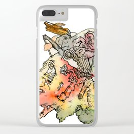 Cosmic Migraine Clear iPhone Case