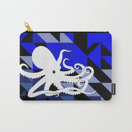 Octopus Geometric artwork in black and blue Carry-All Pouch