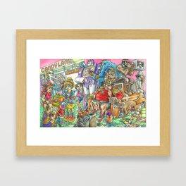 Eighties Toypocalypse  Framed Art Print