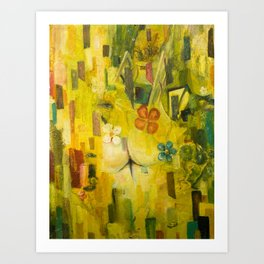 Morning. The street lamp outside the window has long since died out. Art Print