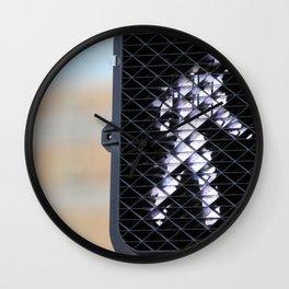Pedestrian Walk Signal Wall Clock