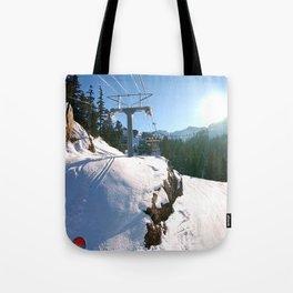 Mountains transport Tote Bag