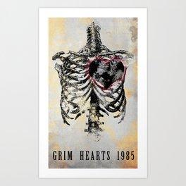 Grim Hearts 1985 Art Print