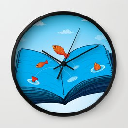Sea of wisdom Wall Clock