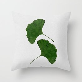 Ginkgo Leaf II Throw Pillow