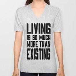 Living & Existing two Unisex V-Neck