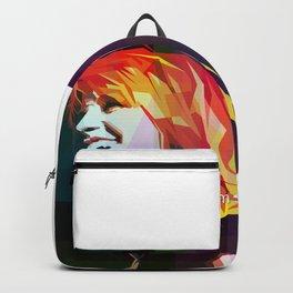 Girl In Rock Backpack