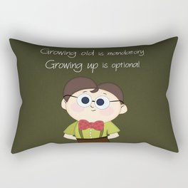 Growing up and growing old a birthday nerdy cute kid illustration Rectangular Pillow