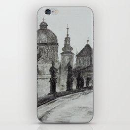 Prague, vintage foto, Charles Bridge, Architecture, Europe iPhone Skin