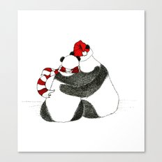 Christmas Pandas Canvas Print