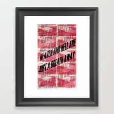 HEAVEN&HELL3 Framed Art Print
