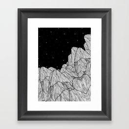 Rocks of the moon Framed Art Print