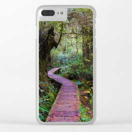 Rainforoest Trail, Vancouver Island BC Clear iPhone Case
