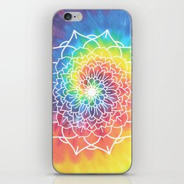 RAINBOW TIE DYE MANDALA iPhone Skin