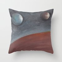 constellation Throw Pillows featuring constellation by karogfineart