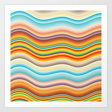 Rainbow Ripples Art Print